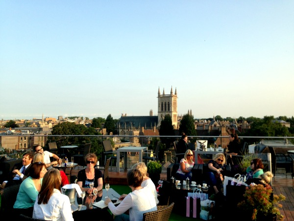 cambridge food tour varsity roof terrace